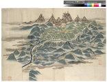 立山全景并に山麓より富山に至る道筋絵図